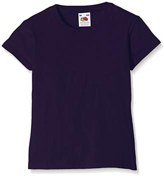 Fruit of the Loom Girls Valueweight T-Shirt, (Manufacturer Size:22)