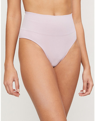 Les Girls Les Boys Semi-sheer high-rise stretch-jersey briefs