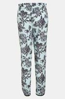 WAYF Tuxedo Stripe Floral Pants