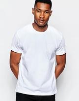 Dkny Crew T-shirt Rubber Stripe Print - White