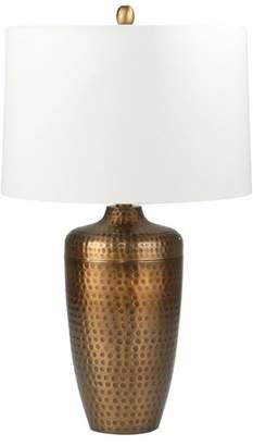 "Sagebrook Home Metal 28"" Table Lamp With Hammered Finish, Bronze"