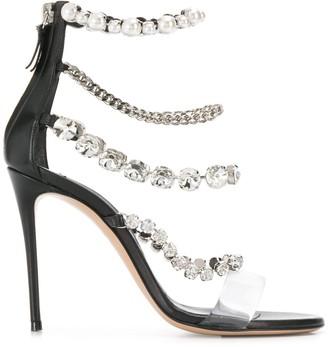 Casadei Crystal Embellished Sandals