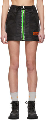 Heron Preston Black Utility Miniskirt