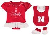 adidas Infant Fanatic Bib&Bootie Creeper Set - Nebraska - 24M