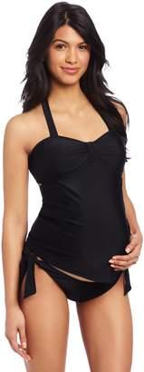 Maternal America Women's Maternity 2 Piece Bow Tankini