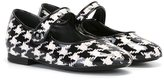 Dolce & Gabbana houndstooth ballerinas - kids - Calf Leather/Leather/Polyester/rubber - 34