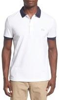 Lacoste Men's Textured Logo Contrast Trim Pique Polo