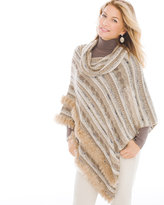 Chico's Tilly Faux-Fur Trimmed Poncho