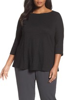 Eileen Fisher Plus Size Women's Organic Linen Jersey Top