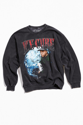 Urban Outfitters Ice Cube Distressed Washed Crew Neck Sweatshirt