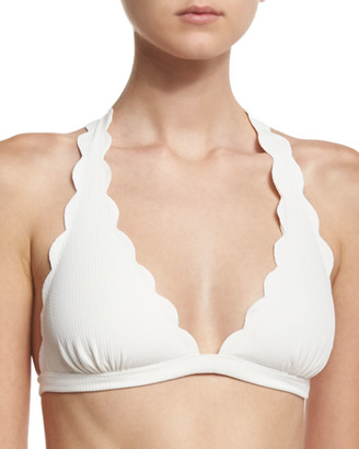 Marysia Swim Spring Scalloped Halter Swim Top