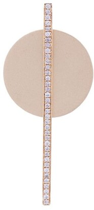 Anissa Kermiche 14 Kt Gold Grey Sapphires Crystal Embellished Disc Earring