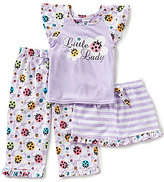 Sweet Heart Rose Little/Big Girls 4-12 3-Piece Ladybug Top, Pants, & Shorts Pajama Set