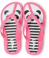 Girls 4-16 Panda Bear Glitter Thong Flip Flop Sandals