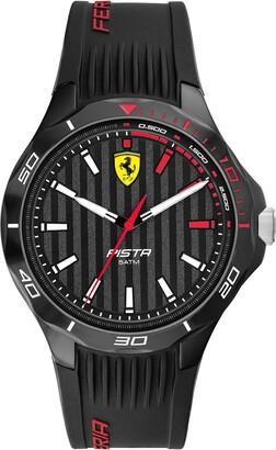 Ferrari Men's Pista Quartz Watch with Silicone Strap