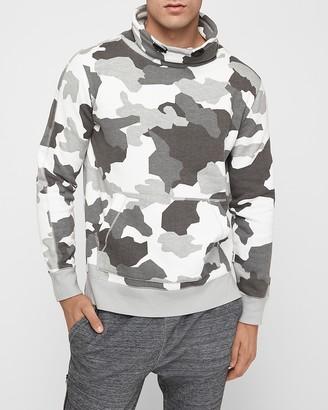 Express Camo Funnel Neck Fleece Sweatshirt