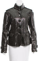 Burberry Metallic-Accented Leather Jacket