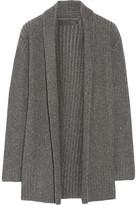 The Elder Statesman Ribbed Cashmere Cardigan - Dark gray