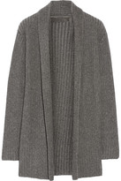The Elder Statesman Ribbed-knit Cashmere Cardigan - Dark gray