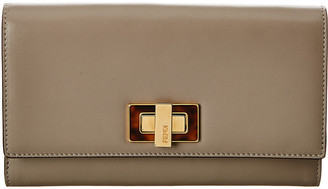 Fendi Peekaboo Leather Continental Wallet