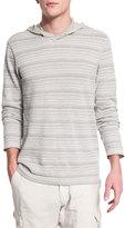 John Varvatos Textured Stripe Long-Sleeve Hooded Sweater