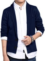 uxcell® Boys Shawl Collar Single Breasted Knitted Cardigan
