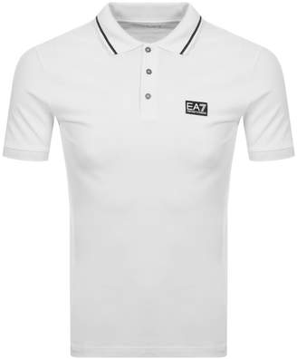 Emporio Armani Ea7 EA7 Short Sleeved Polo TShirt White