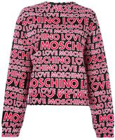 Love Moschino logo print sweatshirt - women - Cotton/Spandex/Elastane - 42