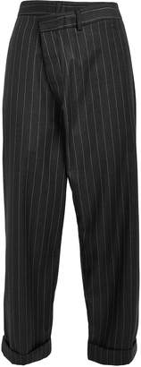 R 13 Crossover Pinstripe Wool Trousers