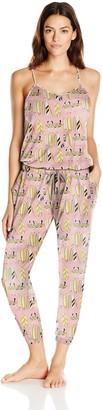 Munki Munki Women's Jersey Cami Pant Romper