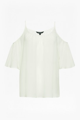 French Connection Crepe Light Cold Shoulder Top