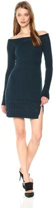 Somedays Lovin Women's Falling Free Off The Shoulder Sweater Dress