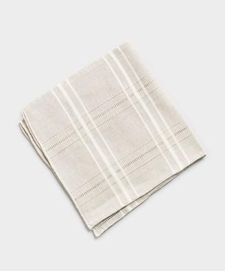 Mungai Mixed Linine Cotton Pocket Square in Grey