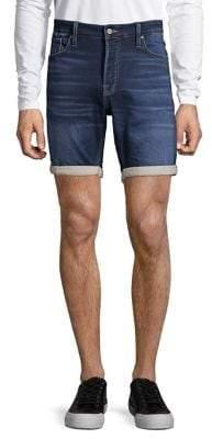 Jack and Jones Whiskered Denim Shorts