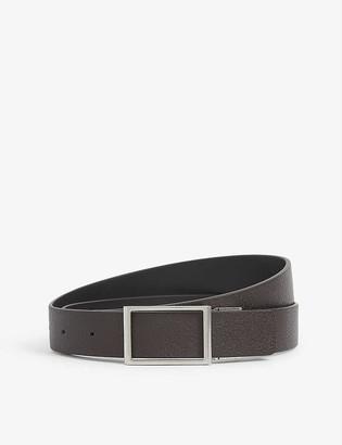 Bottega Veneta Square-buckle leather belt