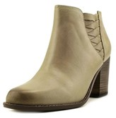 Very Volatile Wesley Women Round Toe Leather Bootie.