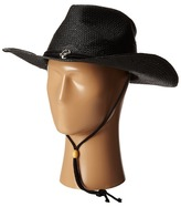 San Diego Hat Company PBC1030 Woven Paper Straw Cowboy w/ Chin Cord and Metal Trim