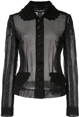 Dolce & Gabbana Fitted Mesh Jacket