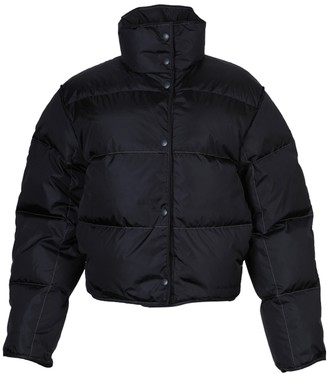 Acne Studios High Neck Puffer Jacket Charcoal Grey