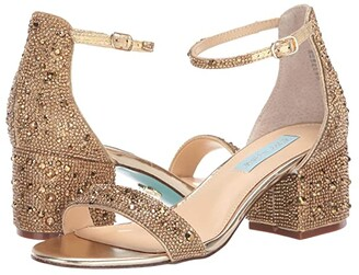 Blue by Betsey Johnson Mari Heeled Sandal (Gold) Women's Shoes