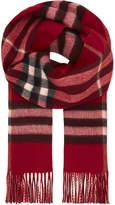 Burberry Metallic check cashmere-blend scarf