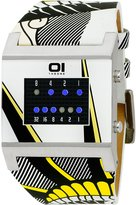 01 The One 01TheOne 01The One Kerala Trance White Leather Liberty Dial Men's Watch #KT119B1