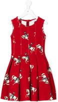 MonnaLisa equestrian print dress