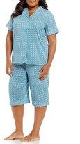 Cabernet Plus Geometric Bermuda Pajamas