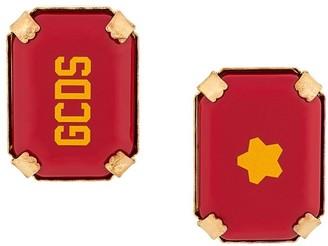 GCDS Star Rocks logo earrings