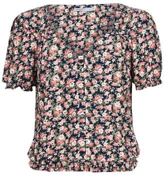 Oasis Floral Print Broderie Top