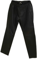 American Vintage Black Leather Trousers for Women
