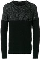 Roberto Collina stripe panel crew neck sweater