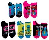 Sesame Street Women's 5-Pack No Show Socks - Multi-Colored 9-11