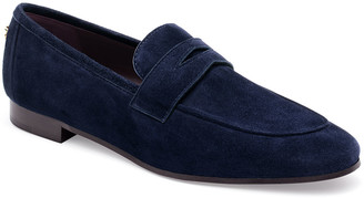 Bougeotte Suede Slip-On Penny Loafer, Navy
